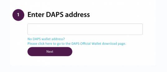 Daps adres to swap
